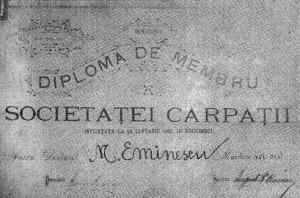 eminescu_societatea_carpatii_document