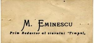 762-Carte-de-vizita-Mihai-Eminescuoriginala